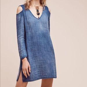 Cloth & Stone • Chambray Cold Shoulder Dress